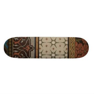 Materia textil de la herencia con los modelos skate board
