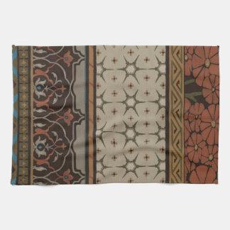 Materia textil de la herencia con los modelos toalla de mano