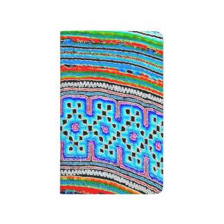 Materia textil de la tribu de la colina (2) cuadernos grapados