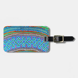 Materia textil de la tribu de la colina (2) etiquetas para equipaje