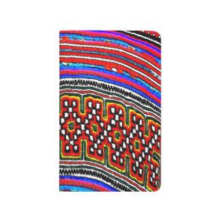 Materia textil de la tribu de la colina cuadernos