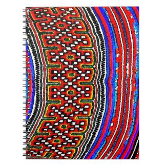 Materia textil de la tribu de la colina libros de apuntes