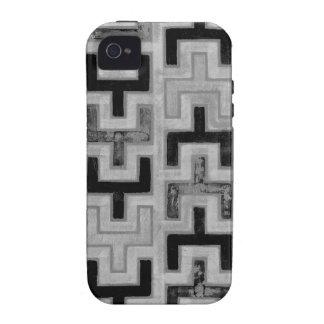 Materia textil de Mudcloth del africano con los iPhone 4/4S Carcasas