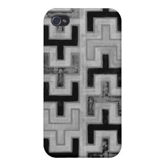 Materia textil de Mudcloth del africano con los iPhone 4/4S Funda