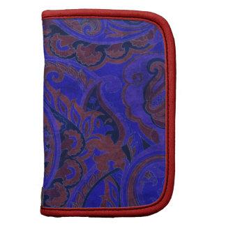 Materia textil de Paisley del vintage del azul rea Organizador