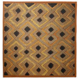 Materia textil de Zaire Congo Kuba del africano Servilletas De Papel