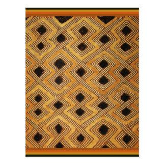 Materia textil de Zaire Congo Kuba del africano Tarjetas Postales