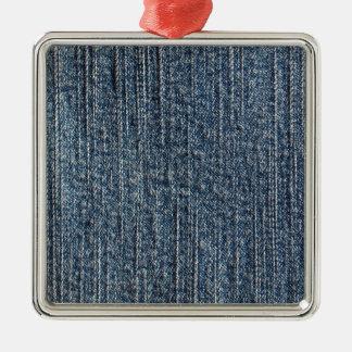 Materia textil del dril de algodón de los tejanos adorno cuadrado plateado