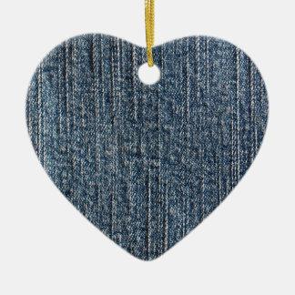 Materia textil del dril de algodón de los tejanos adorno de cerámica en forma de corazón
