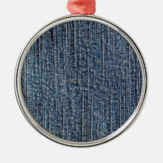 Materia textil del dril de algodón de los tejanos adorno redondo plateado