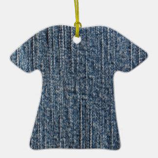 Materia textil del dril de algodón de los tejanos adorno de cerámica en forma de playera