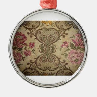materia textil holandesa vieja adorno navideño redondo de metal