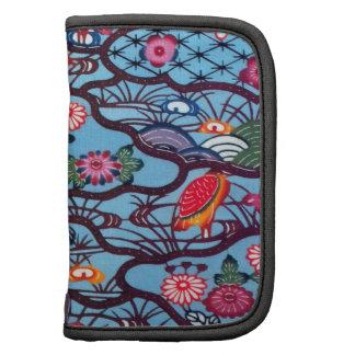 Materia textil japonesa del kimono del vintage (Bi Planificador