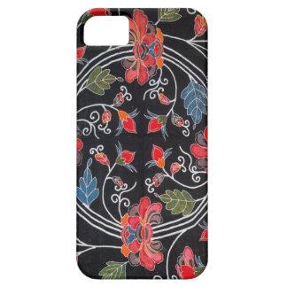 Materia textil japonesa del kimono del vintage Bi iPhone 5 Protectores