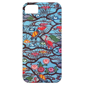 Materia textil japonesa del kimono del vintage (Bi iPhone 5 Case-Mate Funda