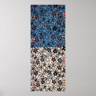 Materia textil japonesa del kimono del vintage (Bi Impresiones