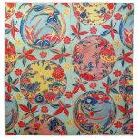 Materia textil japonesa del kimono del vintage (Bi Servilleta
