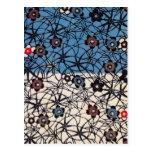 Materia textil japonesa del kimono del vintage (Bi Tarjetas Postales