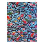 Materia textil japonesa del kimono del vintage (Bi Postal