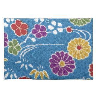 Materia textil japonesa del KIMONO, estampado de f Manteles