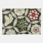 Materia textil japonesa del KIMONO, estampado de f Toallas De Cocina