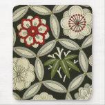 Materia textil japonesa del KIMONO, estampado de f Tapetes De Ratones