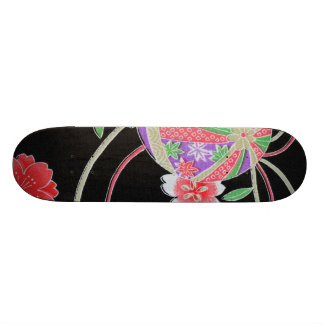 Materia textil japonesa del KIMONO, modelo del flo Patín Personalizado