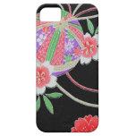 Materia textil japonesa del KIMONO, modelo del iPhone 5 Case-Mate Fundas