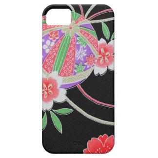 Materia textil japonesa del KIMONO, modelo del iPhone 5 Carcasa