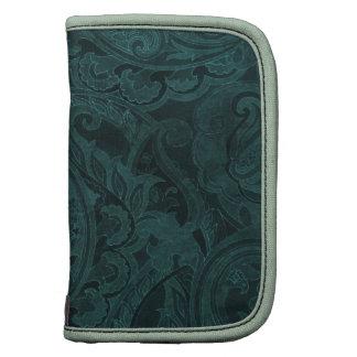 Materia textil oscura de Paisley del vintage de Fo Organizador
