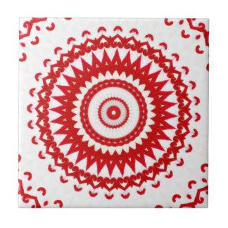 Materia textil popular escandinava roja blanca ele azulejo cuadrado pequeño