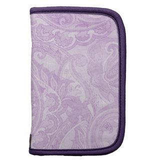 Materia textil púrpura de Paisley del vintage de l Planificador