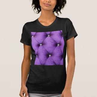 Materia textil púrpura del terciopelo del estilo d camisetas