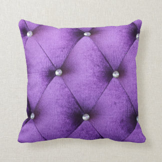 Materia textil rosada púrpura elegante del estilo  almohada