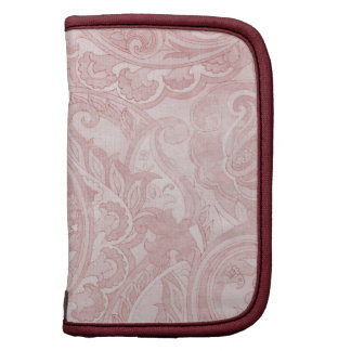 Materia textil rosada suave de Paisley del vintage Planificadores