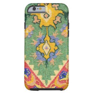 Materia textil tejida vintage del Victorian Funda De iPhone 6 Tough