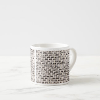 Material background espresso cup