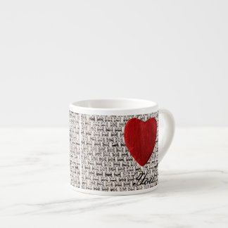 Material background Love you Espresso Cup
