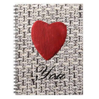 Material background Love you Notebook