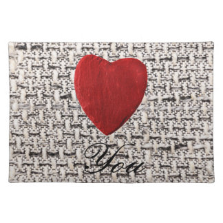Material background Love you Placemat