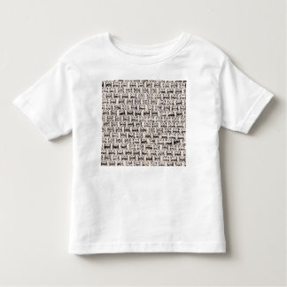 Material background toddler t-shirt
