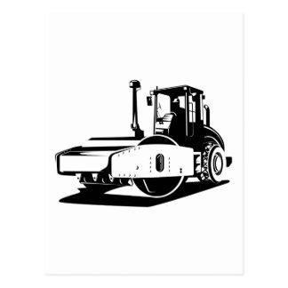 material de construcción del rodillo de camino tarjeta postal