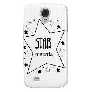 Material de la estrella funda para galaxy s4