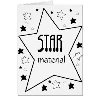 Material de la estrella tarjetas