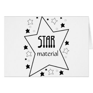 Material de la estrella tarjetón