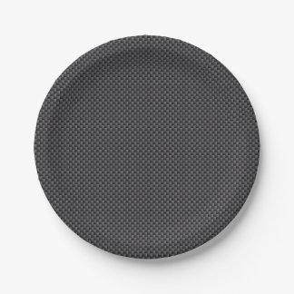 Material de la fibra de carbono de Kevlar Plato De Papel 17,78 Cm