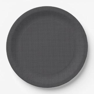Material de la fibra de carbono de Kevlar Plato De Papel 22,86 Cm