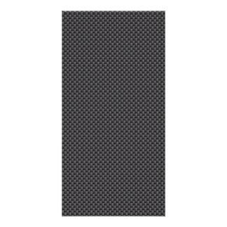 Material de la fibra de carbono de Kevlar Tarjetas Fotográficas Personalizadas