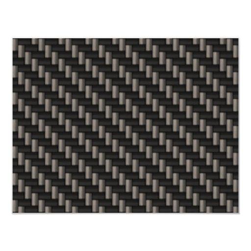 """Material de la fibra de carbono (falso) invitación 4.25"""" x 5.5"""""""