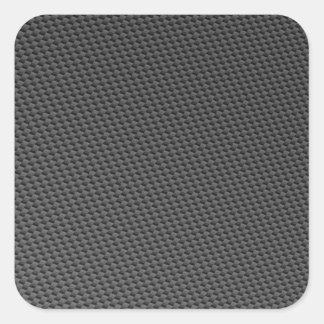 Material de la fibra de carbono pegatina cuadrada